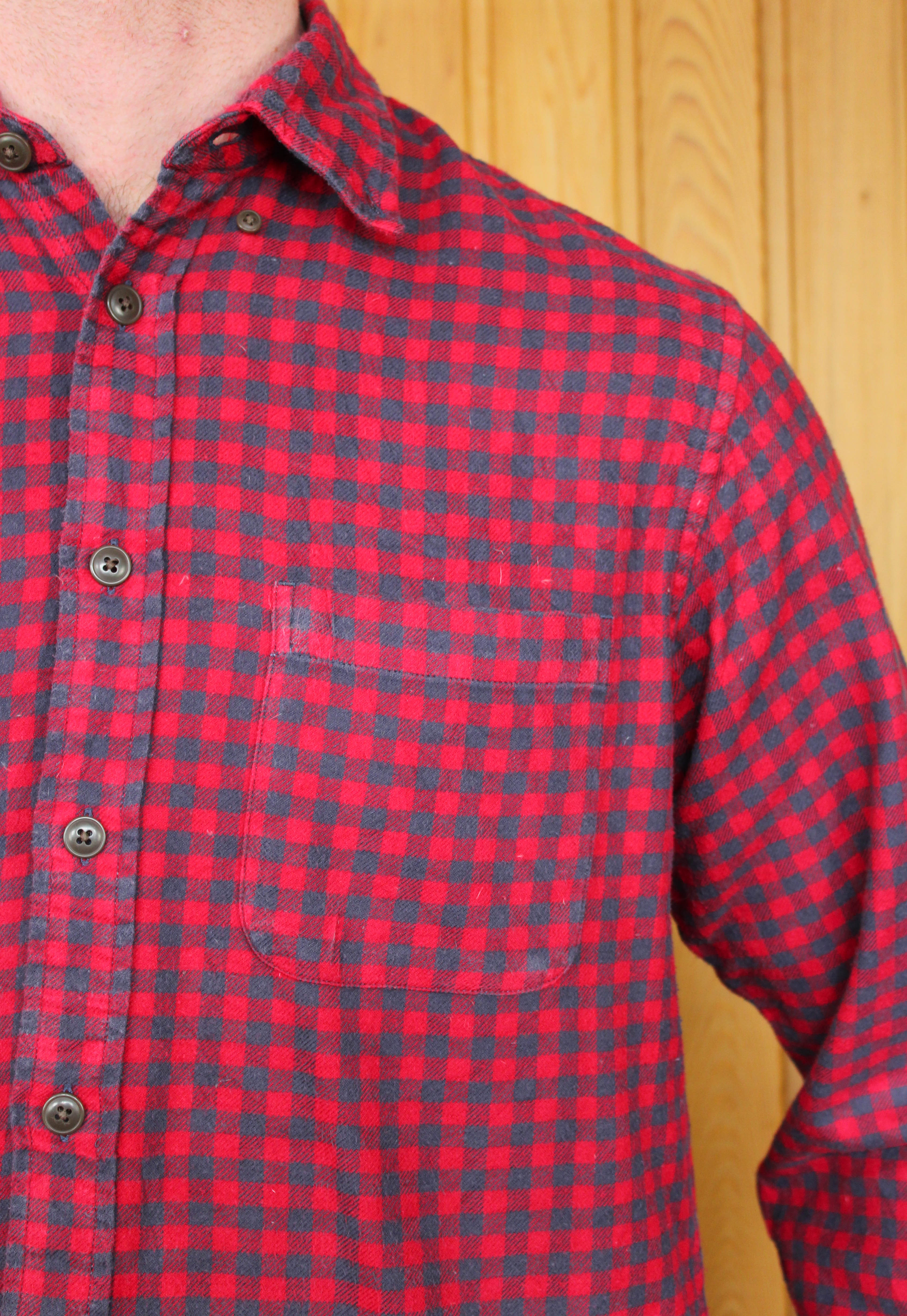 Vintage Red And Blue Flannel Shirt Mack And Rose
